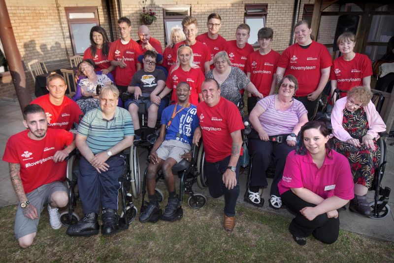 guests and carers at Revitalise Jubilee Lodge Awareness and Fundraiser day