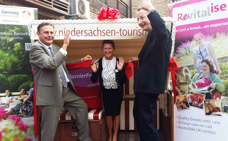 World's first accessible German beach chair donated to Revitalise