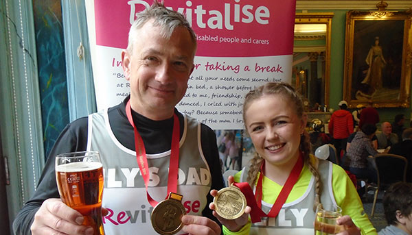 Team Revitalise participants Marc and Lilly